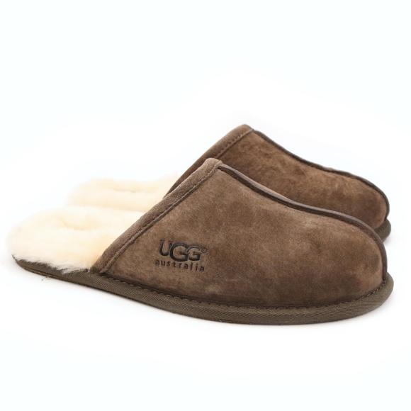 e9c3a757f48 UGG Scuff Espresso Suede Sheepskin Scuff Slippers